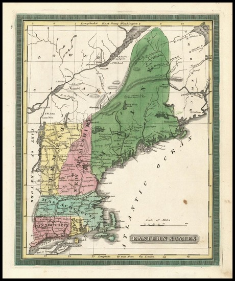 99-New England Map By Andrus  &  Judd