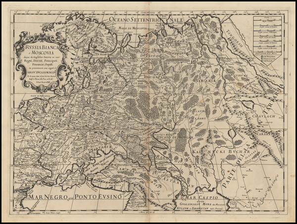 76-Russia and Ukraine Map By Giacomo Giovanni Rossi