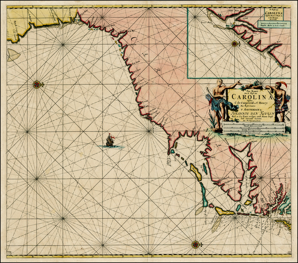 Southeast and North Carolina Map By Johannes Van Keulen