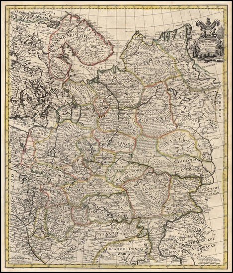 34-Russia and Ukraine Map By John Senex