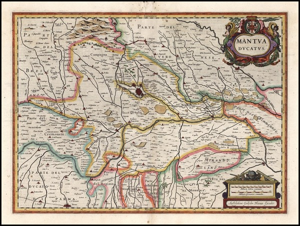 65-Italy and Northern Italy Map By Willem Janszoon Blaeu