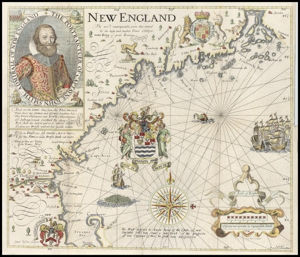 13-New England Map By John Smith
