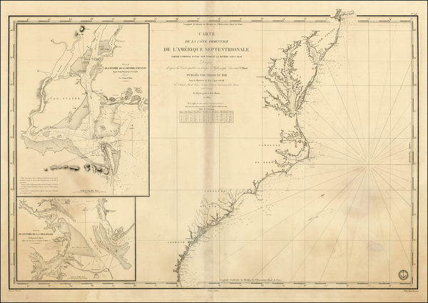71-Mid-Atlantic and Southeast Map By Depot de la Marine