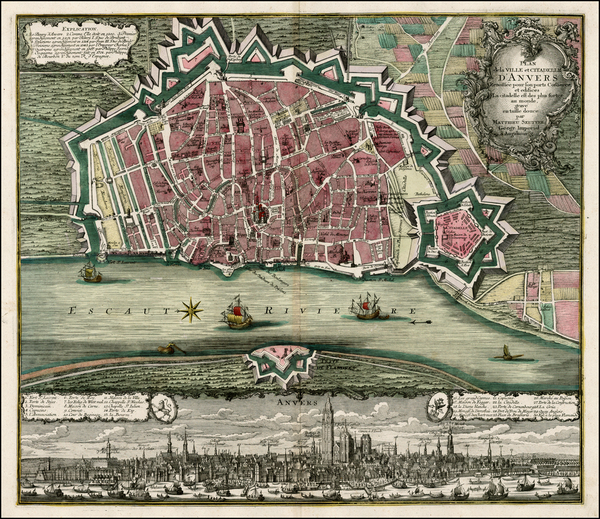 26-Belgium Map By Matthaus Seutter