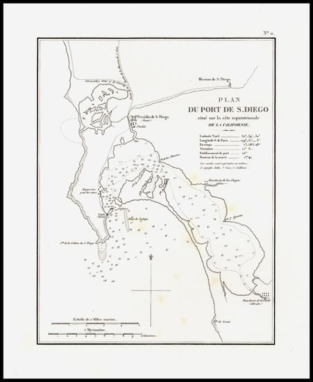 74-San Diego Map By Eugene Duflot De Mofras