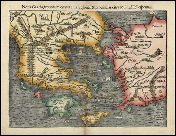 94-Europe and Greece Map By Sebastian Munster