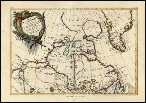 61-Canada Map By Rigobert Bonne