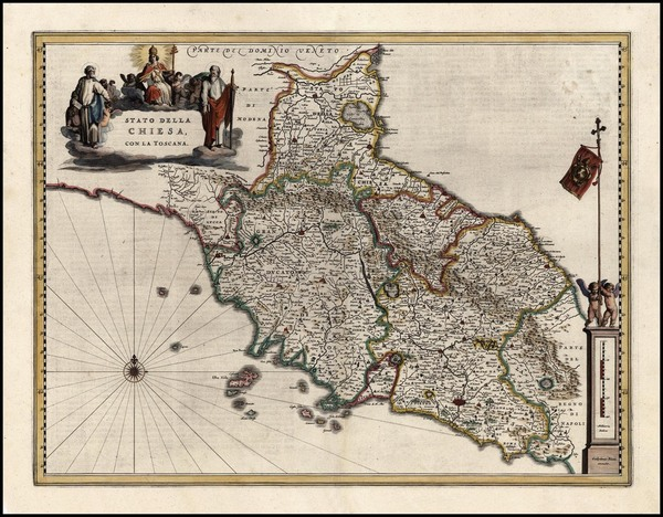 60-Europe and Italy Map By Willem Janszoon Blaeu