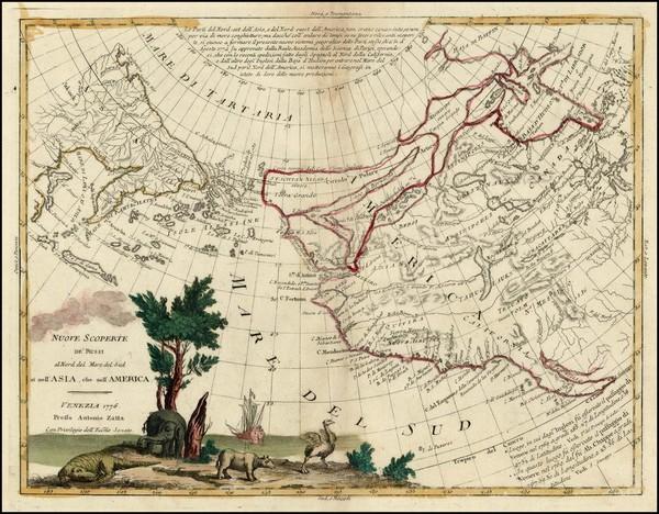 60-World, Rocky Mountains, Alaska, Pacific and California Map By Antonio Zatta