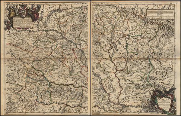 78-Austria, Hungary, Romania and Balkans Map By Giacomo Giovanni Rossi - Giacomo Cantelli da Vigno