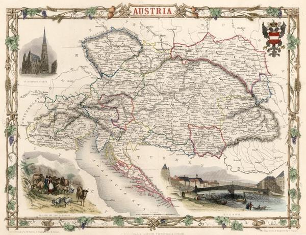57-Europe and Austria Map By John Tallis