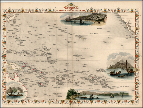 29-World, Australia & Oceania, Pacific, Oceania, Hawaii and Other Pacific Islands Map By John