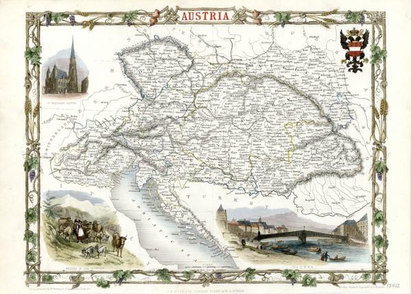 17-Europe and Austria Map By John Tallis