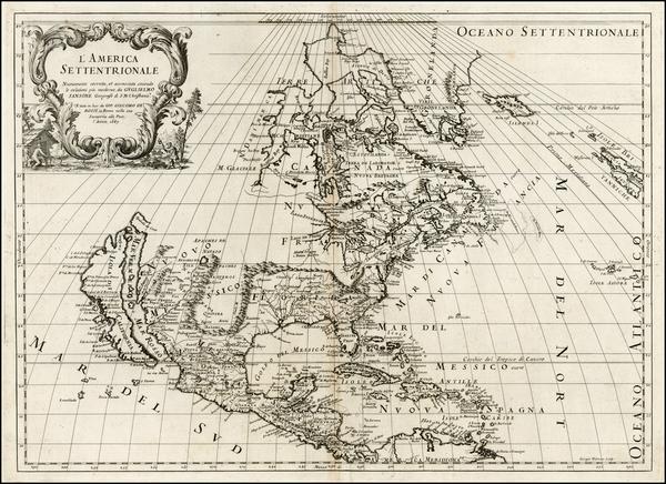 92-North America and California Map By Giacomo Giovanni Rossi