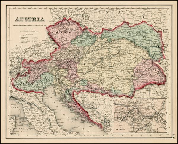 60-Europe, Austria, Hungary, Czech Republic & Slovakia and Balkans Map By Joseph Hutchins Colt