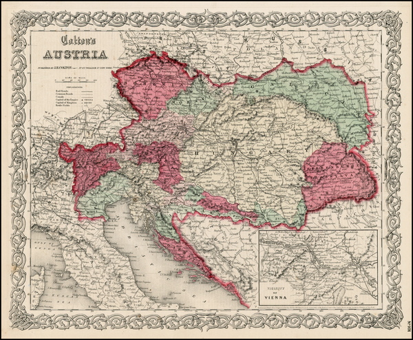 19-Europe, Austria, Hungary, Czech Republic & Slovakia and Balkans Map By Joseph Hutchins Colt