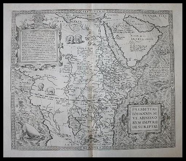 91-Africa, Africa, North Africa, East Africa and West Africa Map By Abraham Ortelius