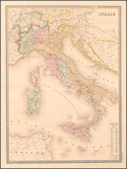 91-Europe and Italy Map By Eugène Andriveau-Goujon