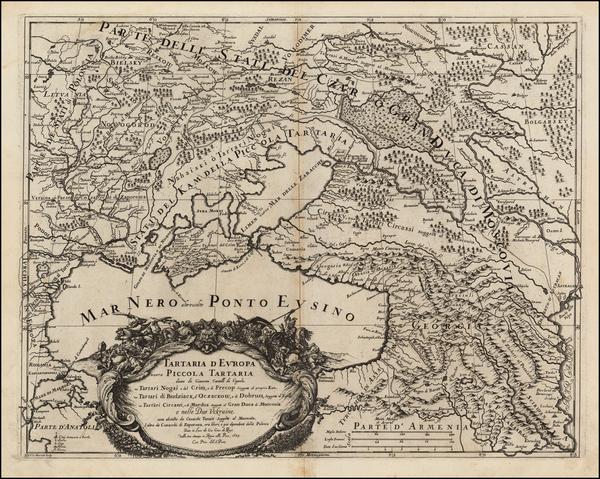 7-Poland, Russia, Ukraine and Turkey Map By Giacomo Giovanni Rossi - Giacomo Cantelli da Vignola