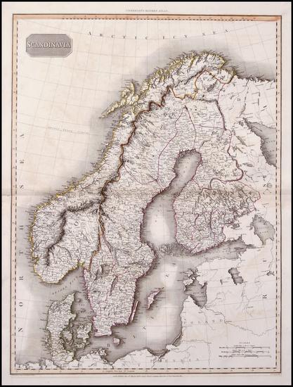 68-Europe and Scandinavia Map By John Pinkerton
