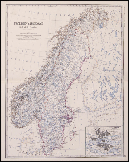 6-Europe and Scandinavia Map By W. & A.K. Johnston