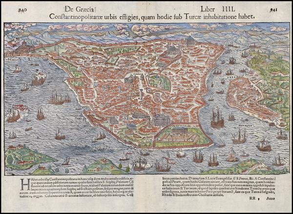 48-Europe, Turkey, Asia and Turkey & Asia Minor Map By Sebastian Munster