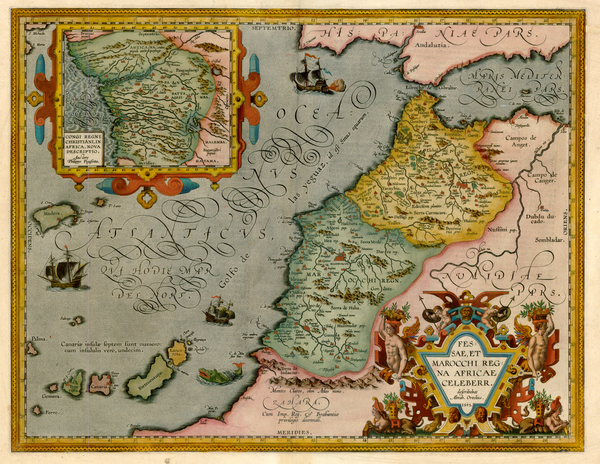 49-Africa, North Africa and West Africa Map By Abraham Ortelius
