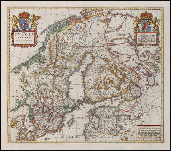 48-Europe, Russia, Baltic Countries and Scandinavia Map By Johannes Blaeu