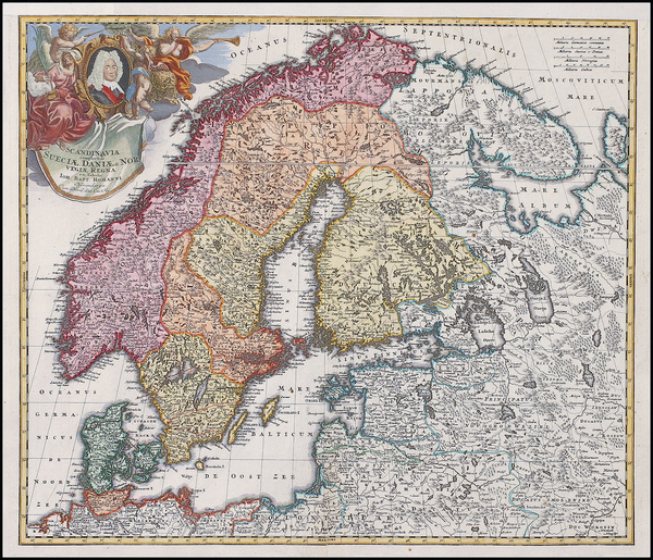 57-Europe, Russia, Baltic Countries and Scandinavia Map By Johann Baptist Homann