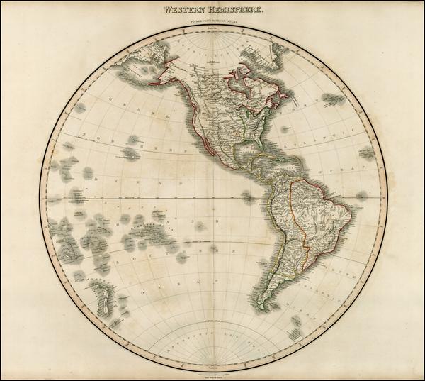 82-World, Western Hemisphere, South America, Pacific and America Map By John Pinkerton