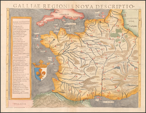 5-Europe and France Map By Sebastian Munster