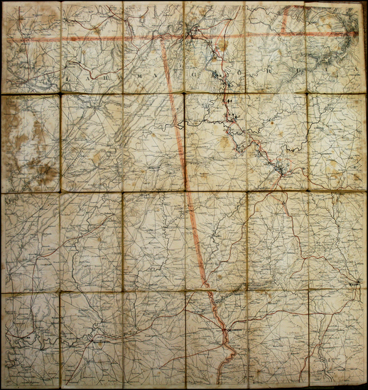 18-South and Southeast Map By Adolph Lindenkohl