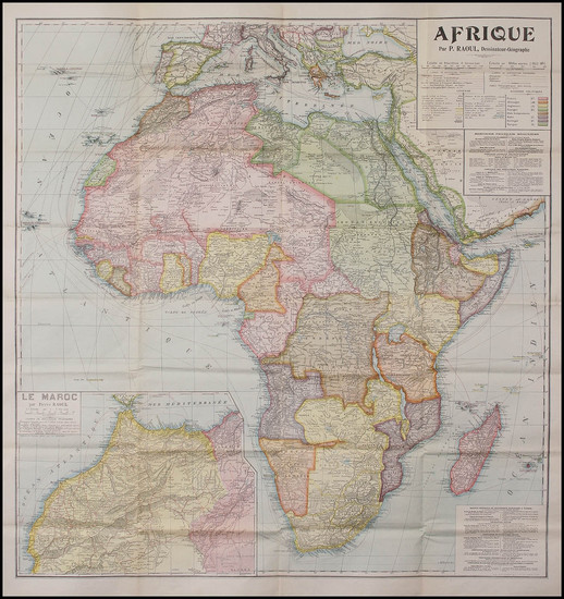 28-Africa and Africa Map By P. Raoul
