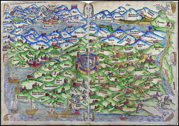 38-Asia and Holy Land Map By Lucas Brandis