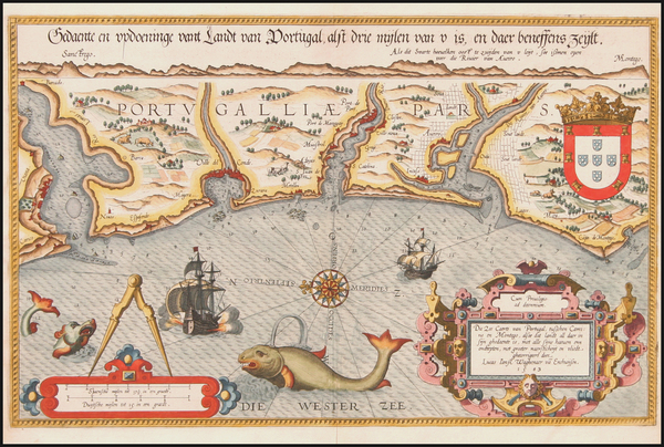 12-Europe and Portugal Map By Lucas Janszoon Waghenaer