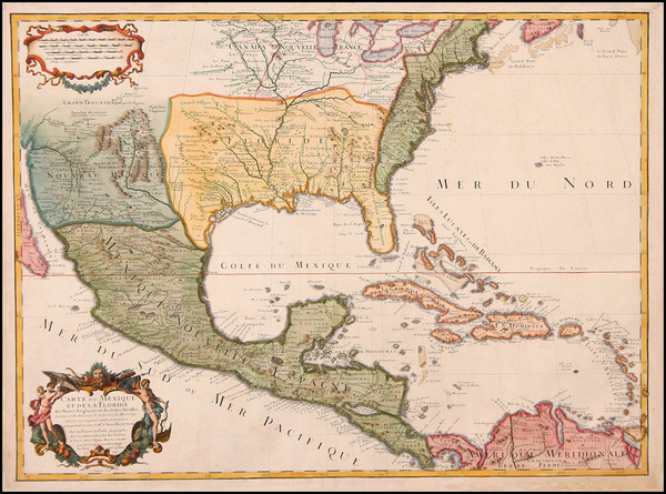 44-United States, South, Southeast, Texas, Midwest, Southwest, Rocky Mountains and Mexico Map By G