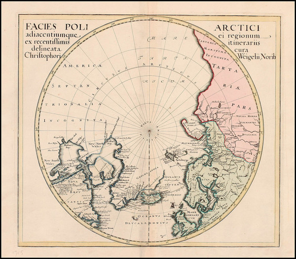 78-Northern Hemisphere, Polar Maps, Alaska, Canada, Russia and Scandinavia Map By Christopher Weig