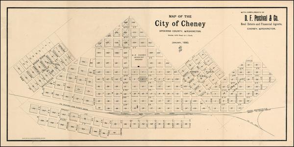 35-Washington Map By Rand McNally & Company