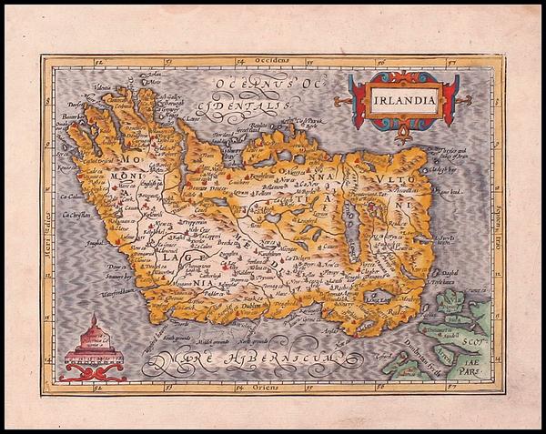 95-Ireland Map By Gerhard Mercator