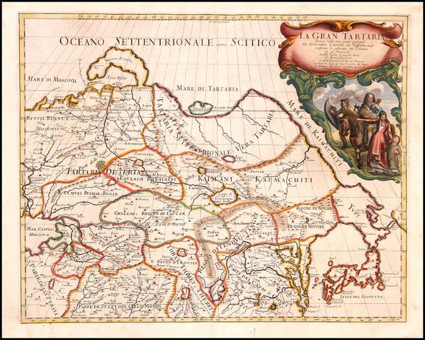 42-Europe, Ukraine, Asia, China, Japan, Korea, Central Asia & Caucasus and Russia in Asia Map