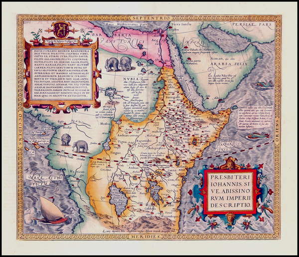 45-Africa, Africa, North Africa, East Africa and West Africa Map By Abraham Ortelius