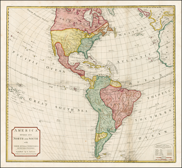 58-South America and America Map By Anonymous