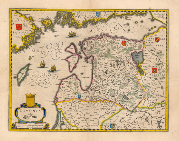 65-Europe, Poland, Russia, Baltic Countries and Scandinavia Map By Willem Janszoon Blaeu