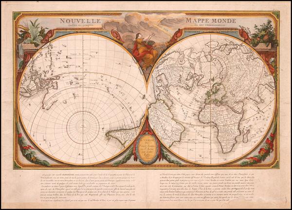 3-World, World, Northern Hemisphere and Southern Hemisphere Map By Giovanni Antonio Remondini