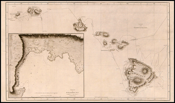 51-Hawaii, Australia & Oceania and Hawaii Map By James Cook