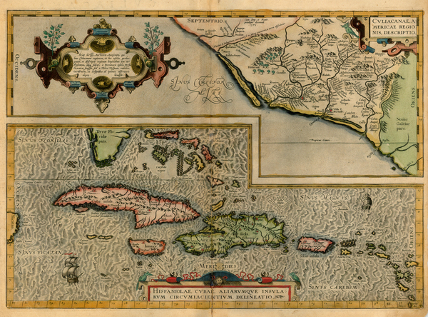 0-Southeast, Mexico and Caribbean Map By Abraham Ortelius