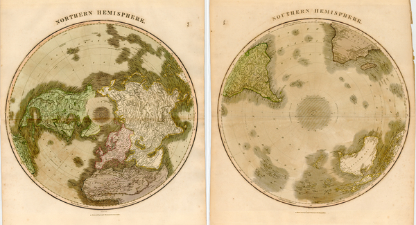 80-Northern Hemisphere, Southern Hemisphere and Polar Maps Map By John Thomson