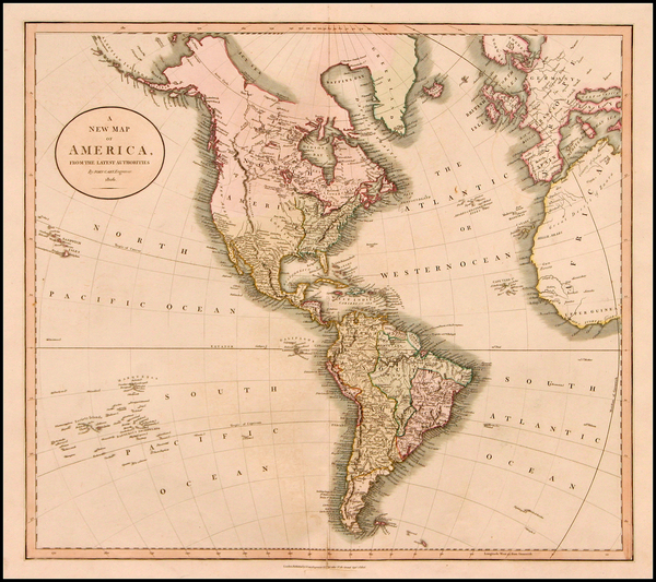 29-South America and America Map By John Cary