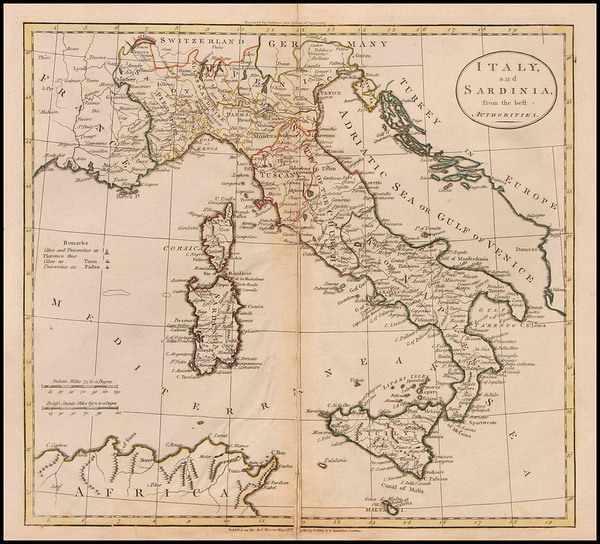 14-Europe, Italy and Balearic Islands Map By Charles Dilly