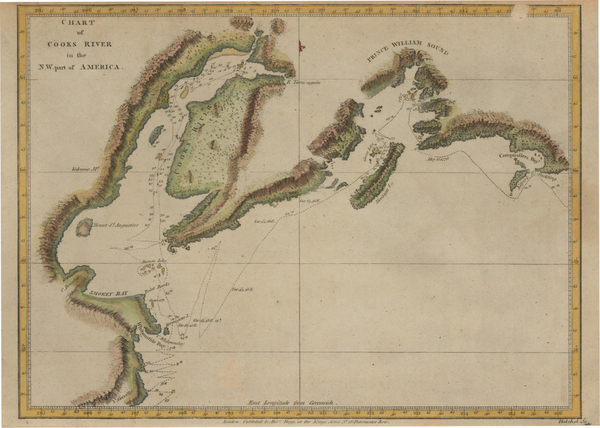 69-Alaska and Canada Map By James Cook